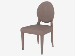 Chair with leather upholstery ADLER sedia