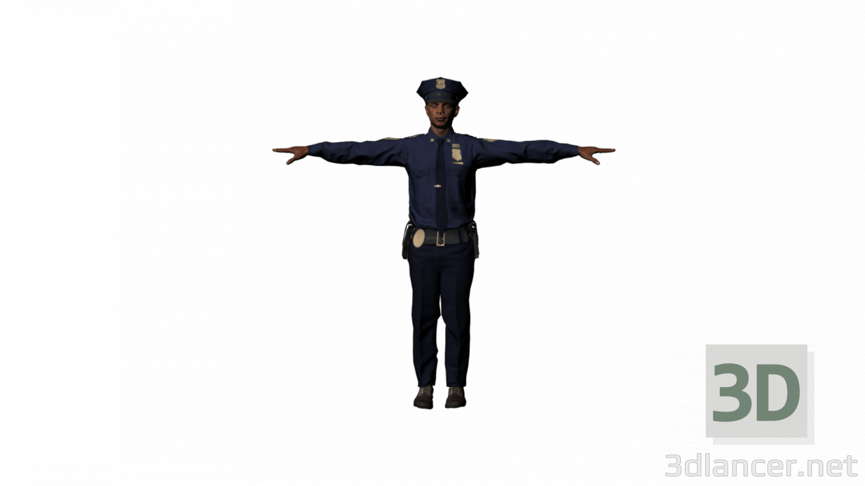 3d Owen police model buy - render