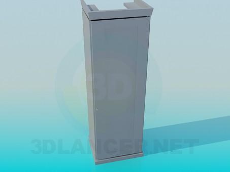 3d модель Шафа на одну секцію – превью