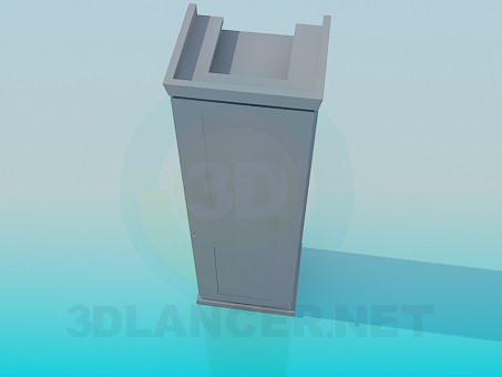 3d model Closet on one partition - preview