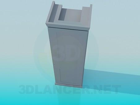 3d модель Шкаф на одну секцию – превью