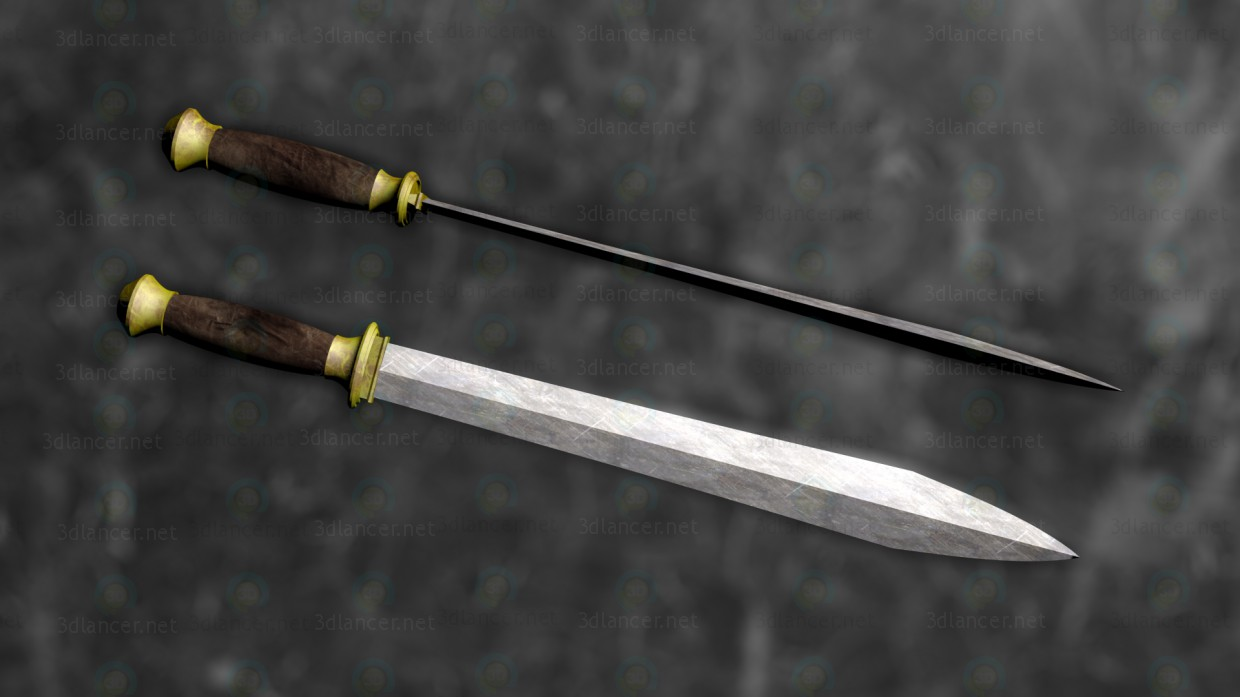 "3d Gladius ""Honorem"" model buy - render"