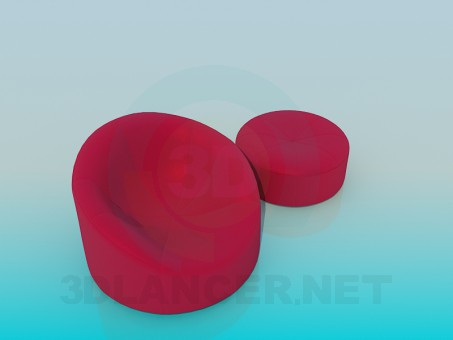 3d modeling Armchair model free download