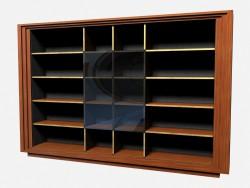 Большой книжный шкаф с застекленными секциями Sanders
