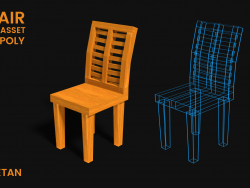 3D chair game asset -Low poly