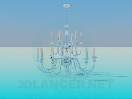 3d model Luxurious chandelier - preview