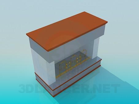 3d модель Камин без вытяжки – превью