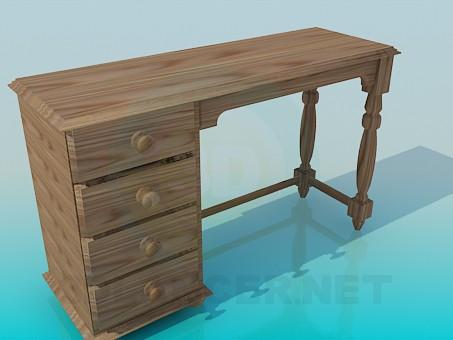 descarga gratuita de 3D modelado modelo Escritorio de madera