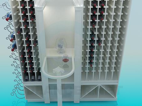 3d model In the wine cellar - preview