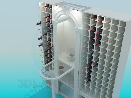 3d модель В винный погреб – превью