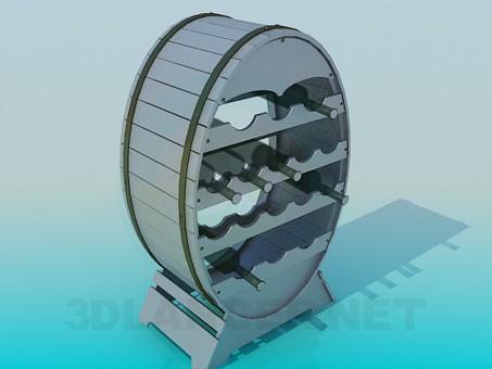 modelo 3D Sostenedor del vino - escuchar