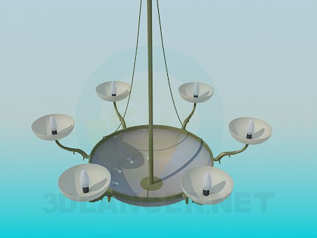 3d modeling The chandelier in the form of bowl model free download