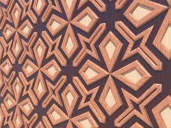 Wooden 3d panel