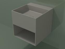 Wall-mounted washbasin Giorno (06UN23301, Clay C37, L 48, P 50, H 48 cm)