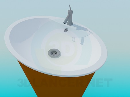 3d model Vanity with a cone-shaped stand - preview