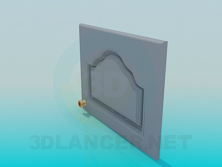 3d model Door with handle - preview