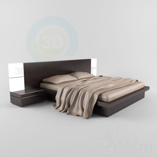 3d modeling Modern bed model free download