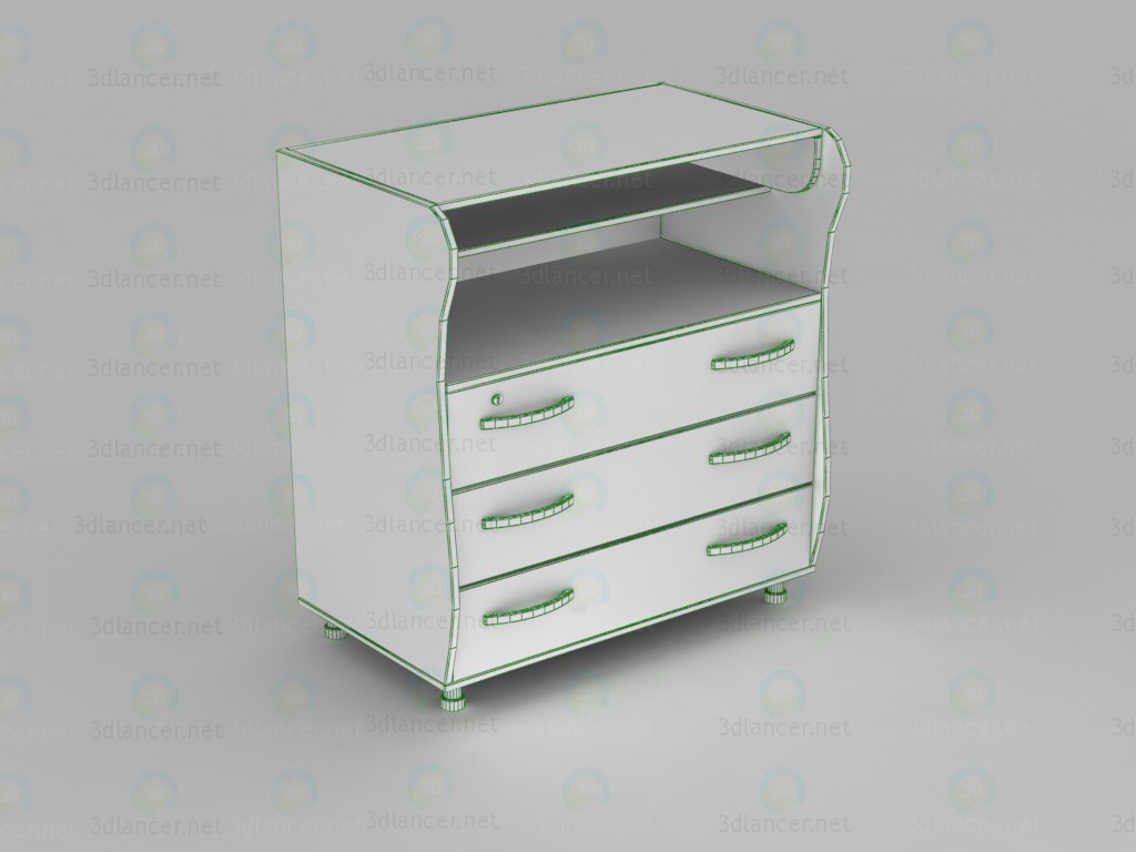 3d 341893 type 4, dresser with changing table model buy - render
