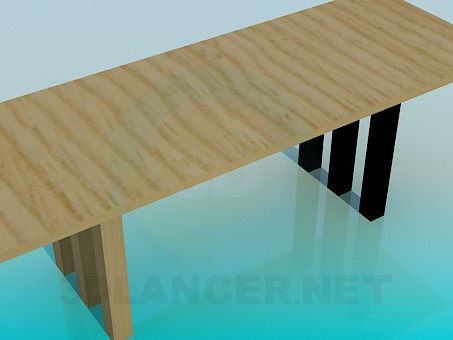 3d model Long table - preview