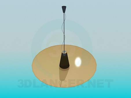 3d модель Лампа тарелка – превью