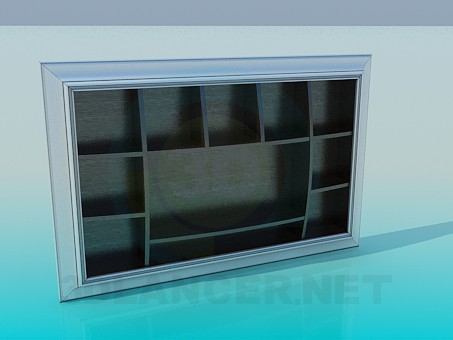 3d modeling Wall mounted rack model free download