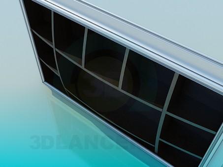3d модель Настенный стеллаж – превью
