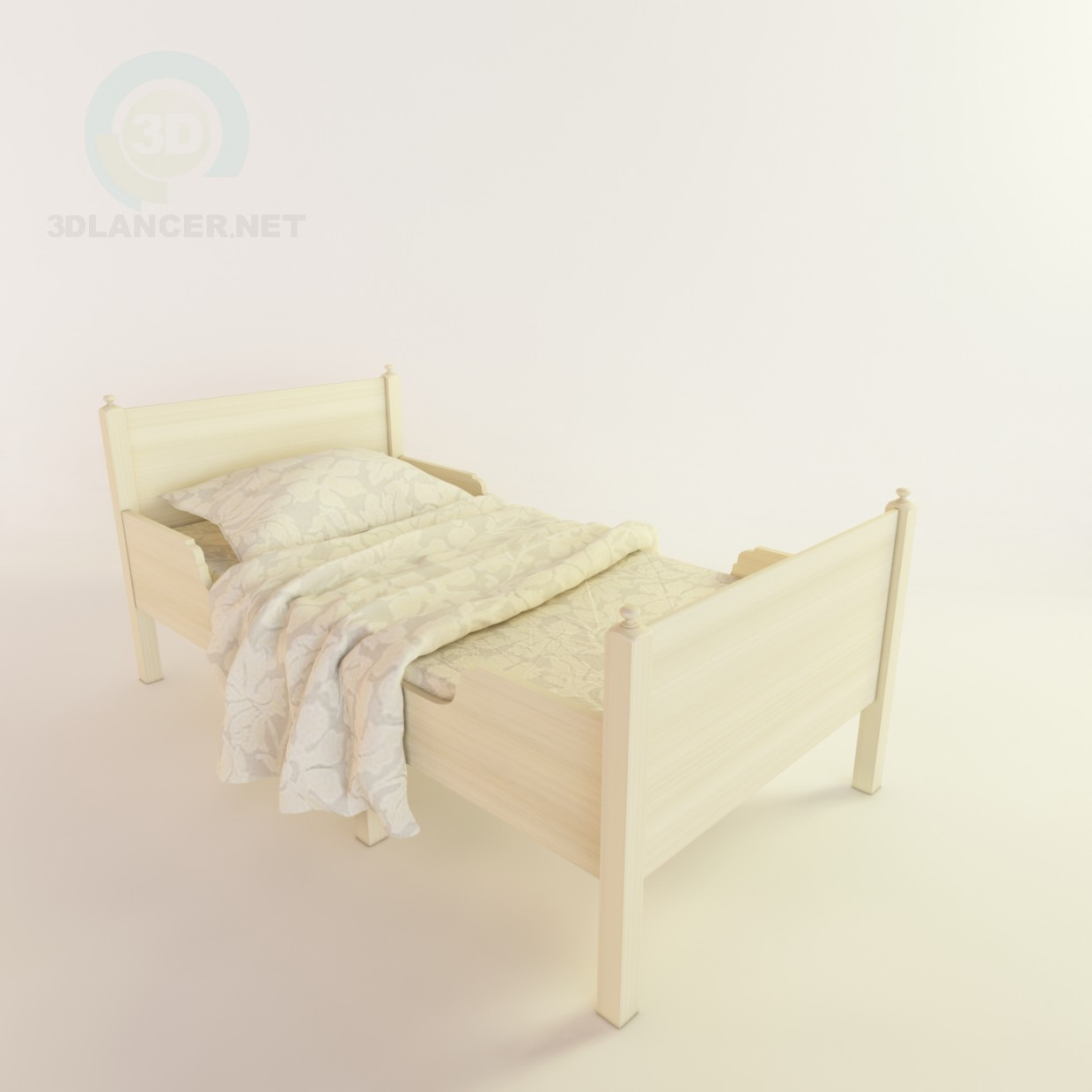 3d modeling child's bed (ikea) model free download