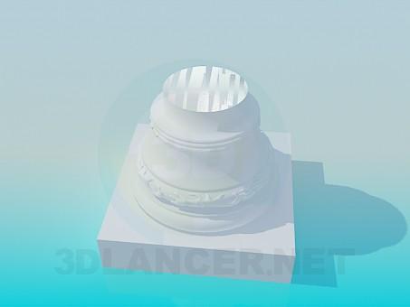 3d моделирование Пьедестал модель скачать бесплатно