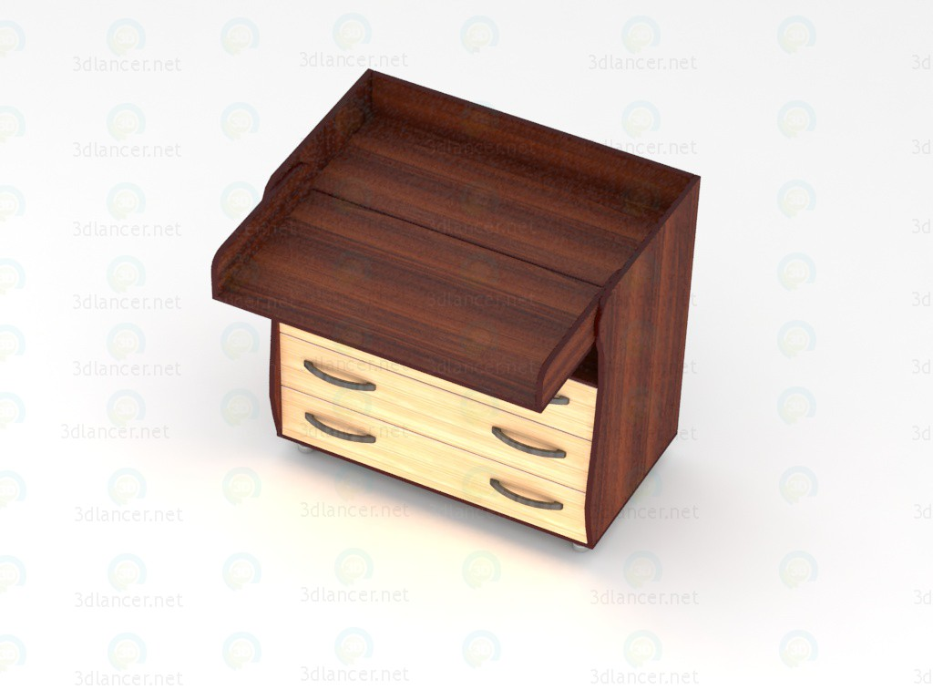 3d  341893 type 4-B2, Dresser with changing table  model buy - render