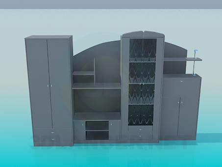 modelo 3D Mueble de entrada - escuchar