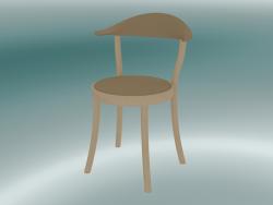 Sedia MONZA sedia da bistrot (1212-20, faggio naturale, caramello)