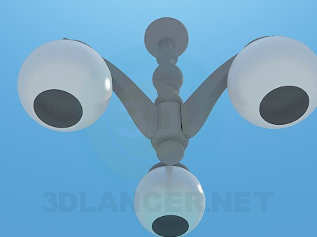 3d модель Люстра с круглыми плафонами – превью
