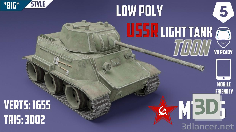 MT-25 USSR Toon Tank * Big * 3D modelo Compro - render