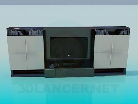 3D modeli Kabine TV için - önizleme