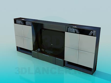3d model Cabinet for TV - preview
