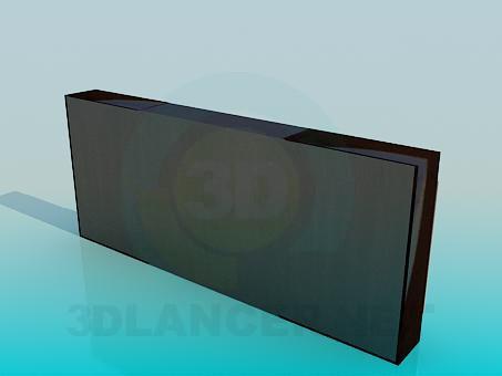 modelo 3D Mueble para TV - escuchar