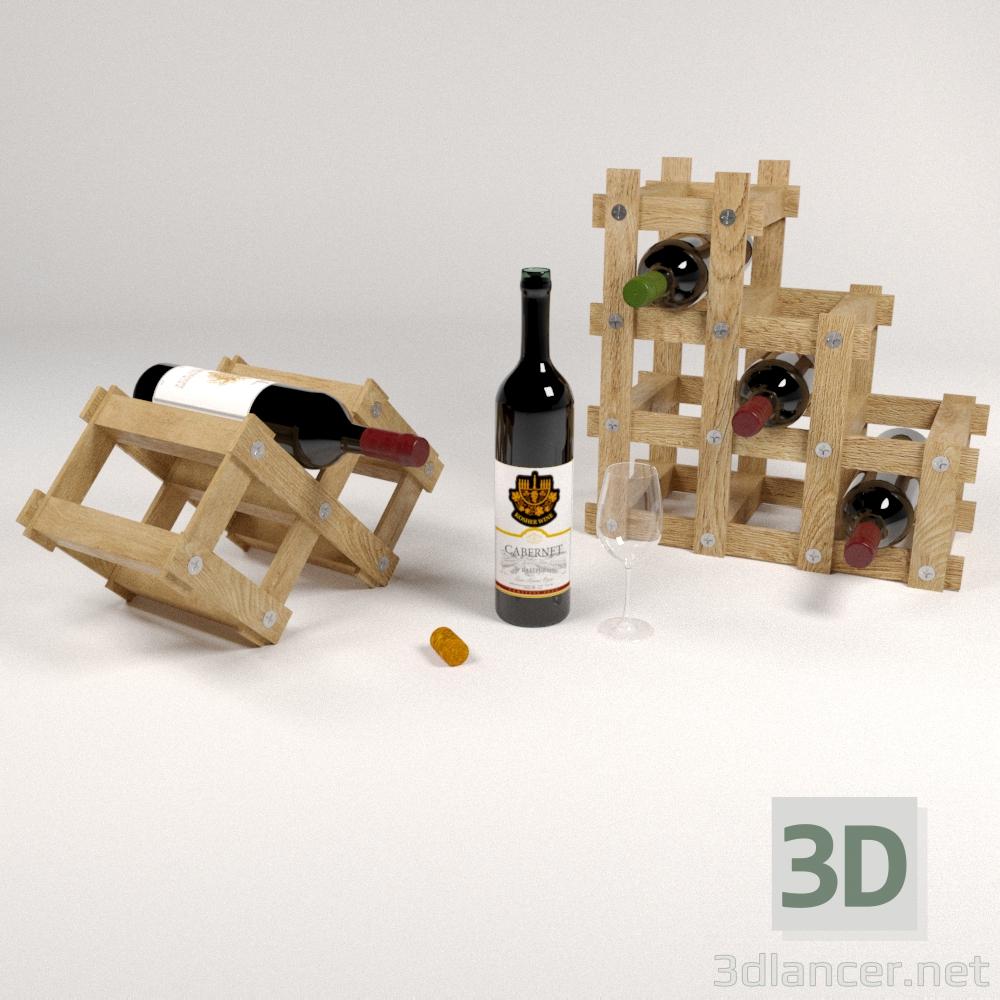 3d Wine holder model buy - render