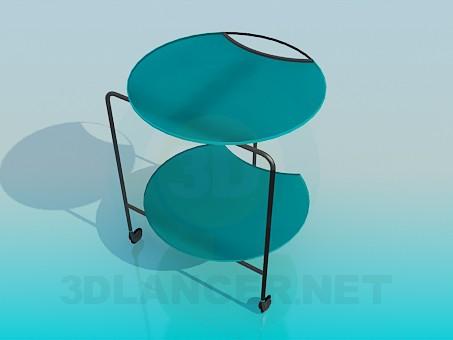 3d модель Стол-тележка – превью