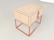 बेडसाइड टेबल epoq de roche bobois hudviak द्वारा