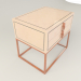 3d bedside table epoq de roche bobois by hudviak model buy - render