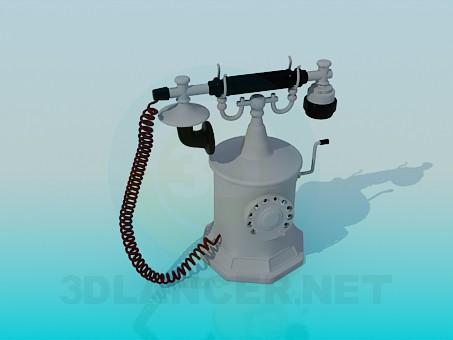 3d моделирование Антикварный телефон модель скачать бесплатно
