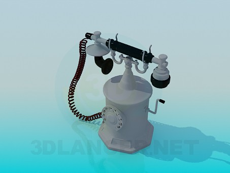 3d model Antique telephone - preview
