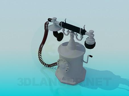 3d модель Антикварный телефон – превью
