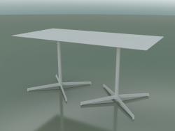 Rectangular table with a double base 5546 (H 72.5 - 79x159 cm, White, V12)
