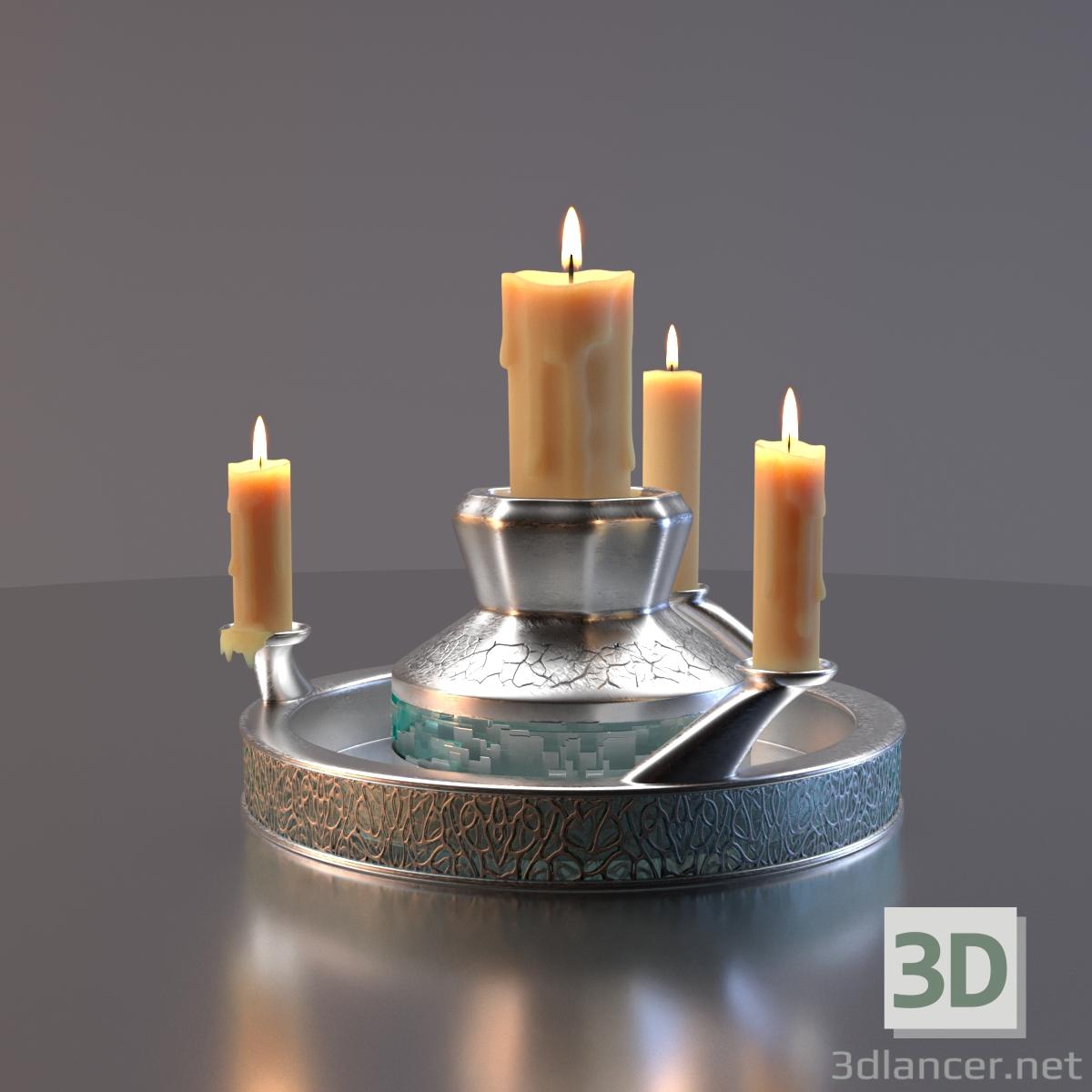 3d Candlestick model buy - render