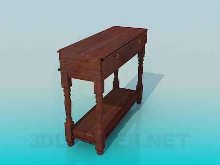 3d модель Деревянная консоль – превью