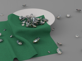 Saucer with diamonds
