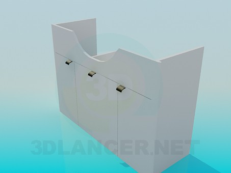 modelo 3D lavabo de pedestal - escuchar