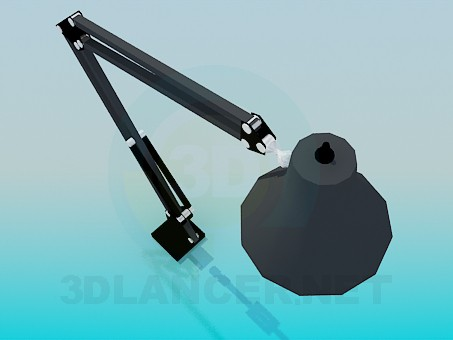 3d model Lamp on the stem with knee - preview