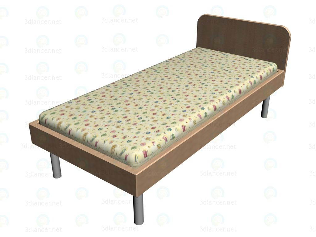 3d модель Кровать 26K210 – превью